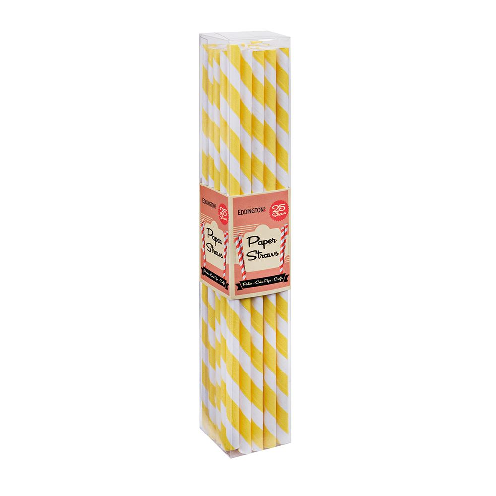 yellow paper straws Refreshing beverages are more fun to sip with these charming, retro paper straws these are the thickest and most durable paper straws we've found they're ma.