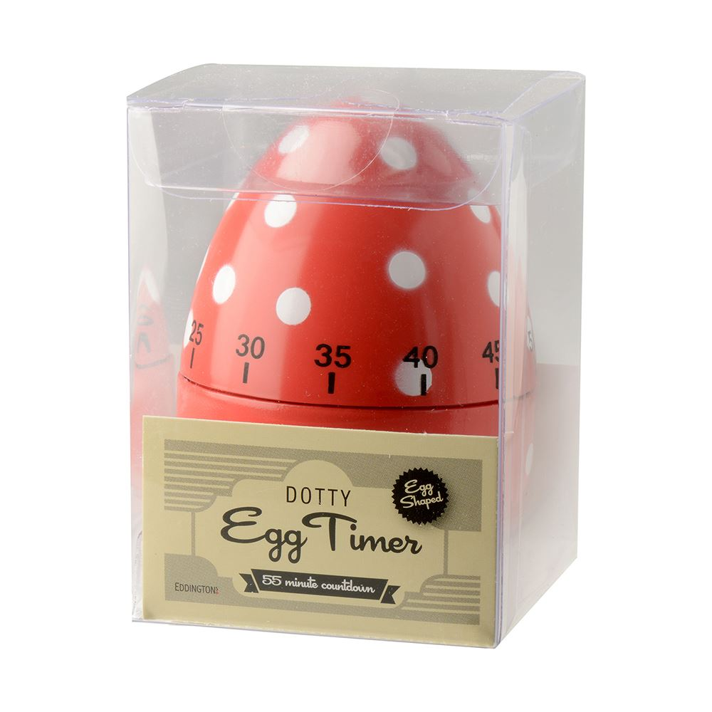 DOTTY EGG TIMER RED - Eddingtons