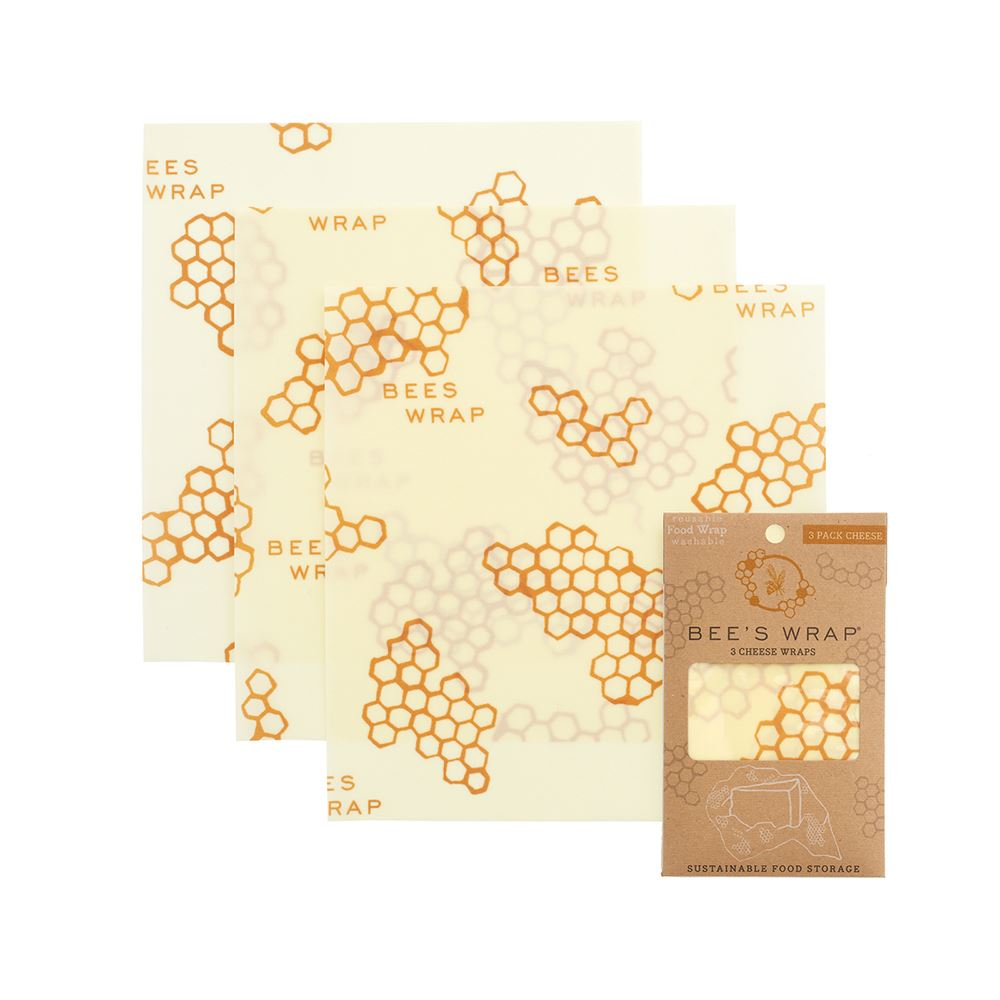 Bee/'s Wrap Set of 3 Assorted Size Wraps Beige
