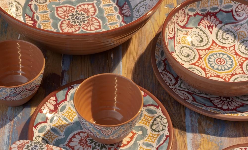 Eddingtons Rio Corte Chip /& Dip Server-Mélamine Serving Tray-Outdoor Dining